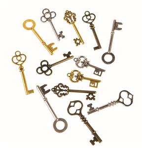 Bag of Old Steampunk Keys Halloween Costume Accessory 12 Pieces