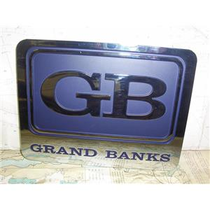 """Boaters' Resale Shop of TX 1909 2122.31 GRAND BANKS 6"""" x 8"""" PLASTIC NAMEPLATE"""