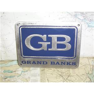 "Boaters' Resale Shop of TX 1909 1024.98 GRAND BANKS 6"" x 8"" STAINLESS NAME PLATE"