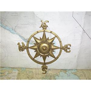 """Boaters' Resale Shop of TX 1909 2122.11 WALL HANGING 12"""" BRONZE COMPASS ROSE"""