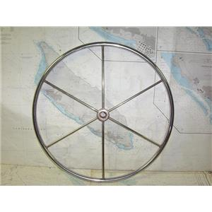 "Boaters' Resale Shop of TX 1910 2442.01 STAINLESS 24"" STEERING WHEEL - 1"" SHAFT"