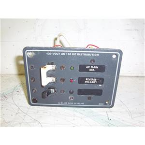 Boaters' Resale Shop of TX 1910 2752.04 BLUE SEA SYSTEMS 8029 AC VOLTAGE PANEL