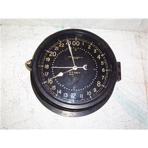 """Boaters' Resale Shop of TX 1911 0441.01 CHELSEA 8"""" U.S. NAVY CLOCK SERIAL 353863"""