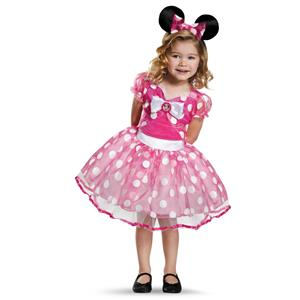Pink Minnie Mouse Disney Mickey Mouse Clubhouse Deluxe Tutu Costume Small 4-6