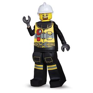 Lego Firefighter Boys Costume Large 10-12