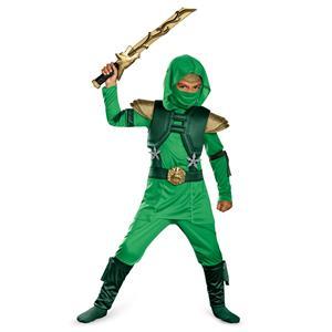 Disguise Green Master Ninja Deluxe Child Costume Medium 7-8