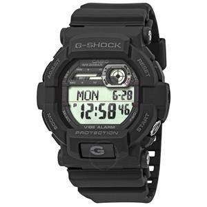 Casio GD-350 -1CR Black G-Shock W/Vibration Alarm.New w/Warranty/Instructions