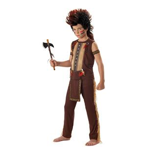 Indian Warrior  Native American Child Costume and Wig Small 6-8
