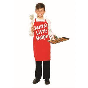 Red White Children's Santa's Little Helper Apron Christmas Chef
