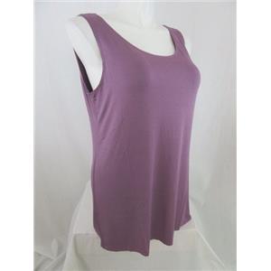 LOGO by Lori Goldstein Size 1X Dusk Purple Regular Straight Hem Knit Tank