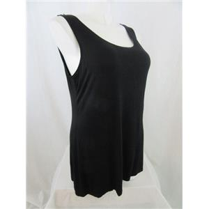 LOGO by Lori Goldstein Size 1X Black Tank Top