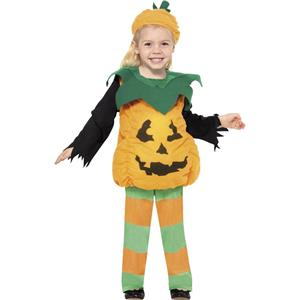 Little Pumpkin Jackolantern Toddler Halloween Costume