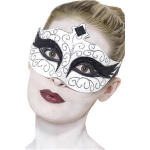 WHITE GOTHIC SWAN FAIRY PRINCESS EYE MASK