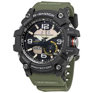 Casio GG-1000 -1ACR G-Shock MudMaster w/Compass/Thermometer.New w/Box & Warranty
