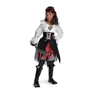 Pirate Lass Deluxe Child Costume SM 4-6X