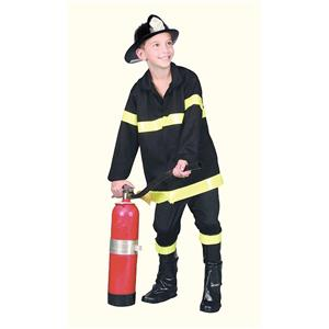 Child Fire Fighter Costume Fireman Size Large 12-14