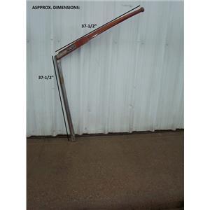 """Boaters' Resale Shop of TX 2001 0474.07 TEAK 37.5"""" TILLER HANDLE WITH 37.5"""" POST"""
