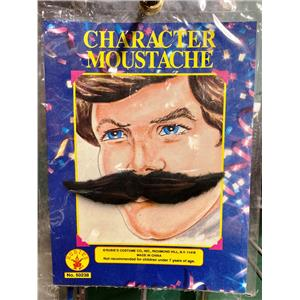 Wing Character Mustache Black