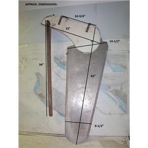 Boaters' Resale Shop of TX 1807 1775.45 RUDDER WITH TILLER EXTENSION ASSEMBLY