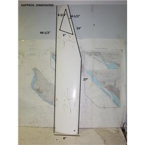 "Boaters' Resale Shop of TX 1807 0522.05 SAILBOAT 48-1/2"" RUDDER BLADE ONLY"