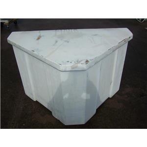 Boaters' Resale Shop of TX 2001 1157.01 TRIANGULAR FIBERGLASS DOCK BOX 30x30x50