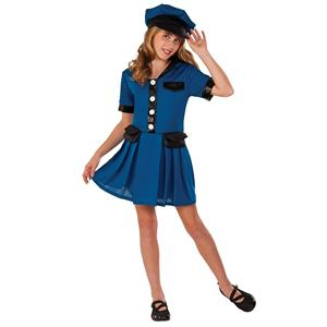 Police Officer Lady Cop Girls Halloween Dress Up Costume Child Large