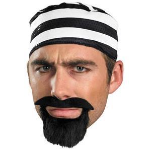 Prisoner Mustache Self Adhesive Facial Hair Disguise