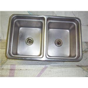 Boaters' Resale Shop of TX 1711 1721.05 POLAR TYPE 300 STAINLESS STEEL DUAL SINK