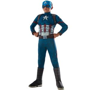 Avengers Captain America Marvel Super Hero Deluxe Child Costume Muscle Medium
