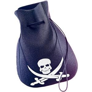 Black Pirate Costume Accessory Coin Pouch