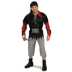 Classic Pirate King Red Black White Adult Mens Standard