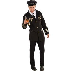 Classic Pilot Flight Captain Costume XL