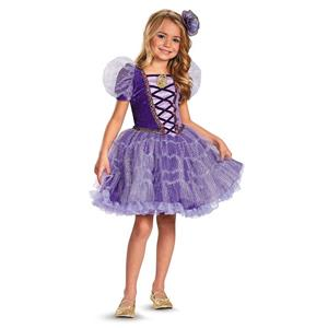 Disney's Tangled Rapunzel Prestige Tutu Girls Costume Medium 7-8