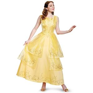 Disney Beauty And The Beast: Belle Adult prestige Costume Large 12-14