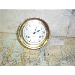 "Boaters' Resale Shop of TX  2002 1541.04 BOSTON SHIPSTRIKE 4"" BRASS PLATED CLOCK"