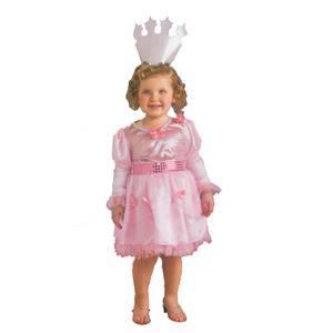 Little Girl Wizard of Oz Glinda Pink Costume Dress and Tiara Toddler Size 2-4