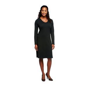 Liz Claiborne New York Essentials Size 1X Black Long Sleeve Dress