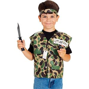Child's Soldier Dress Up Kit Army Man