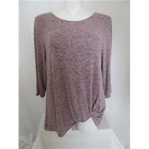 LOGO Lounge by Lori Goldstein Size 1X Heather Pink Ultimate Side Knot Top