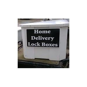 Home Delivery Lock Box, secure 30x30x50 strong water proof lockable storage unit
