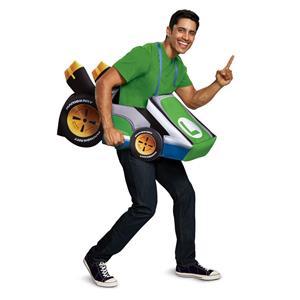 Disguise Mario Kart Luigi Adult Costume