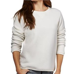 Denim & Co. Size 1X Natural Textured Chenille Sweatshirt