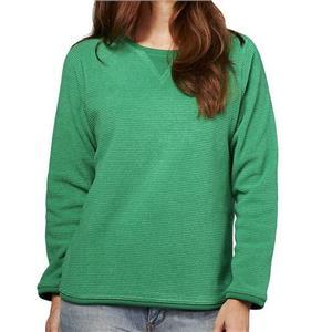 Denim & Co. Size 3X Emerald Green Textured Chenille Sweatshirt