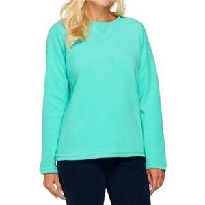 Denim & Co. Size 2X True Turquoise Textured Chenille Sweatshirt