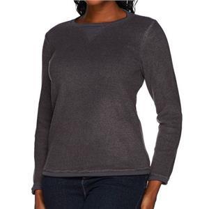 Denim & Co. Size 2X Charcoal Grey Textured Chenille Sweatshirt