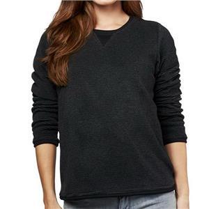 Denim & Co. Size 1X Black Textured Chenille Sweatshirt