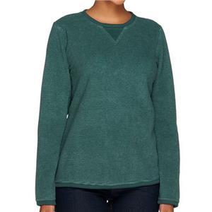 Denim & Co. Size 3X Evergreen Textured Chenille Sweatshirt