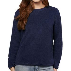 Denim & Co. Size 1X Navy Textured Chenille Sweatshirt