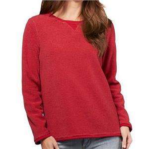 Denim & Co. Size 3X Claret Red Textured Chenille Sweatshirt