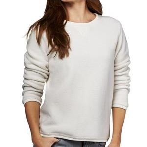 Denim & Co. Size 2X Natural Textured Chenille Sweatshirt